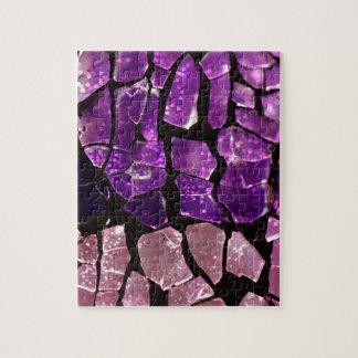 Purple glass fragments puzzle