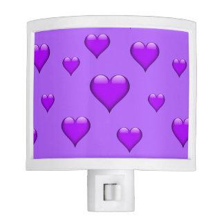 Purple Glass Heart Tiled Customizable Nite Light