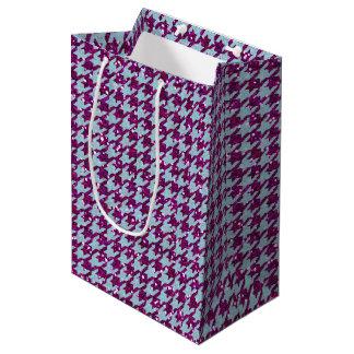 Purple Glitter and Houndstooth #2 Medium Gift Bag