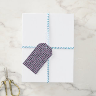 Purple Glitter and Houndstooth Reversible Gift Tags