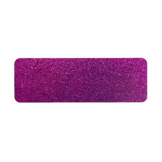 Purple Glitter Background Glittery Sparkle Return Address Label