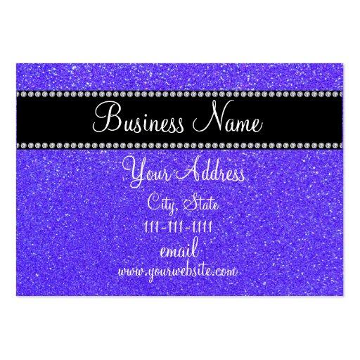 Purple glitter bling business cards