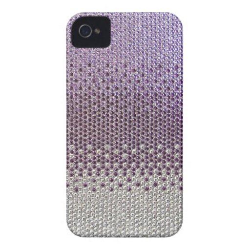 Purple Glitter Bling Cover Case-Mate iPhone 4 Case