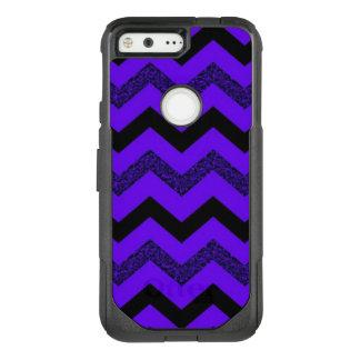 Purple Glitter Chevron Google Pixel Otterbox Case