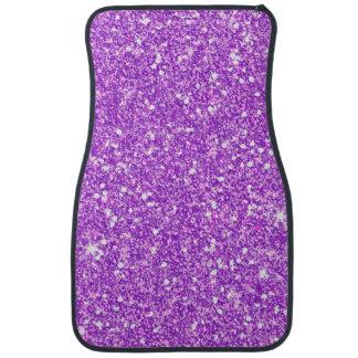 Purple Glitter Diamond Luxury Shine Car Carpet