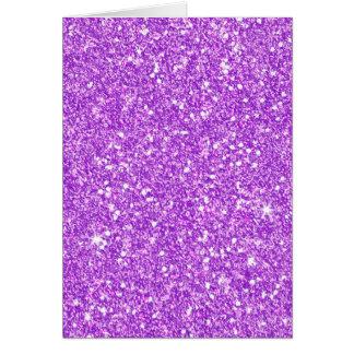 Purple Glitter Diamond Luxury Shine Card