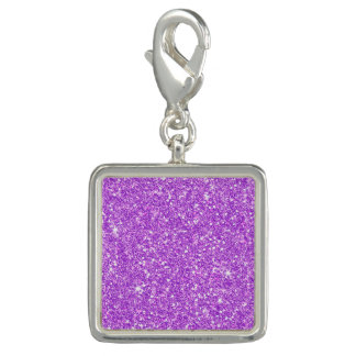 Purple Glitter Diamond Luxury Shine Photo Charm