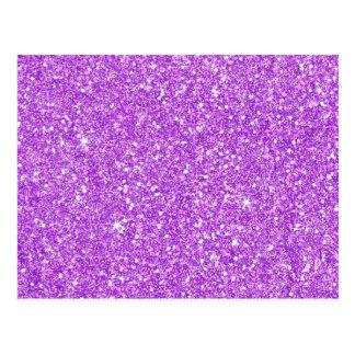 Purple Glitter Diamond Luxury Shine Postcard