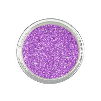Purple Glitter Diamond Luxury Shine Rings