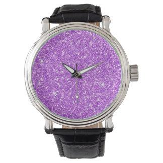 Purple Glitter Diamond Luxury Shine Watch