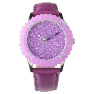 Purple Glitter Diamond Luxury Shine Watch