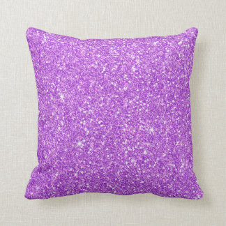 Purple Glitter Diamond Throw Pillow