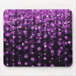 Purple Glitter Diamonds Mouse Pad