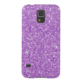 Purple Glitter Effect Galaxy S5 Cover