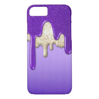 Purple Glitter Flow iPhone 7 Case