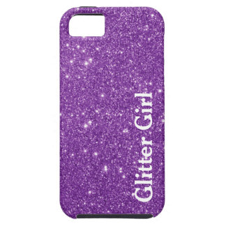 Purple Glitter Girl Show Your Glamours Sparkle iPhone 5 Cover
