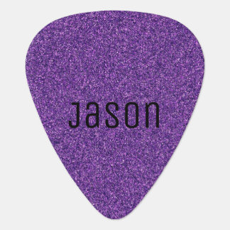 Purple Glitter Guitar Pick