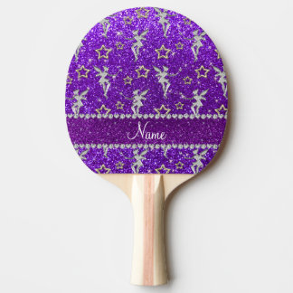 purple glitter hearts and dots stripe6.png ping pong paddle