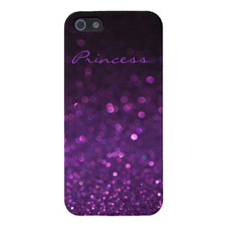 Purple Glitter iPhone 5/5S Case
