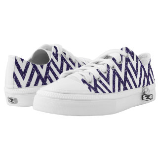 Purple Glitter Line Pattern on Shoes