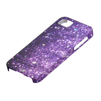 Purple Glitter look iPhone 5 Cases