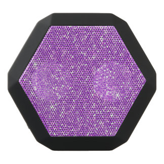 Purple Glitter Luxury Diamond Black Bluetooth Speaker