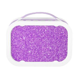 Purple Glitter Luxury Diamond Lunch Box