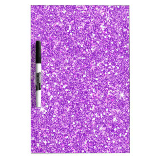 Purple Glitter Luxury Diamond Shine Dry Erase Board