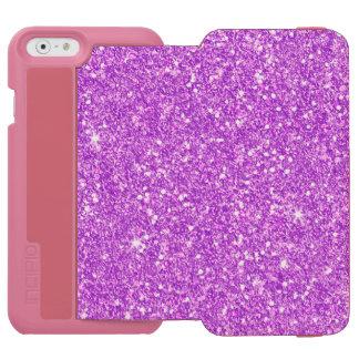 Purple Glitter Luxury Diamond Shine Incipio Watson™ iPhone 6 Wallet Case