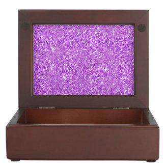 Purple Glitter Luxury Diamond Shine Keepsake Box
