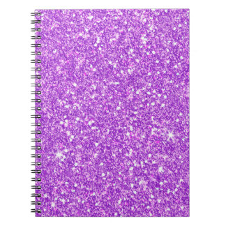 Purple Glitter Luxury Diamond Shine Notebook