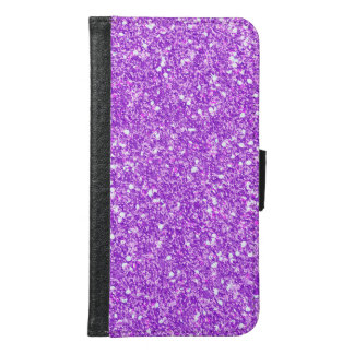 Purple Glitter Luxury Diamond Shine Samsung Galaxy S6 Wallet Case