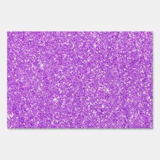 Purple Glitter Luxury Diamond Shine Sign
