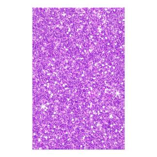 Purple Glitter Luxury Diamond Shine Stationery