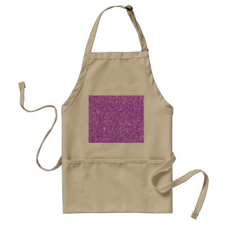 Purple Glitter Luxury Diamond Standard Apron