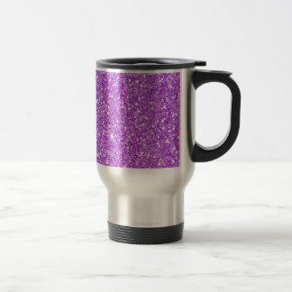 Purple Glitter Luxury Diamond Travel Mug