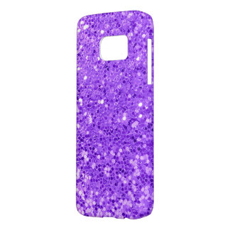 purple glitter macro samsung galaxy s7 case