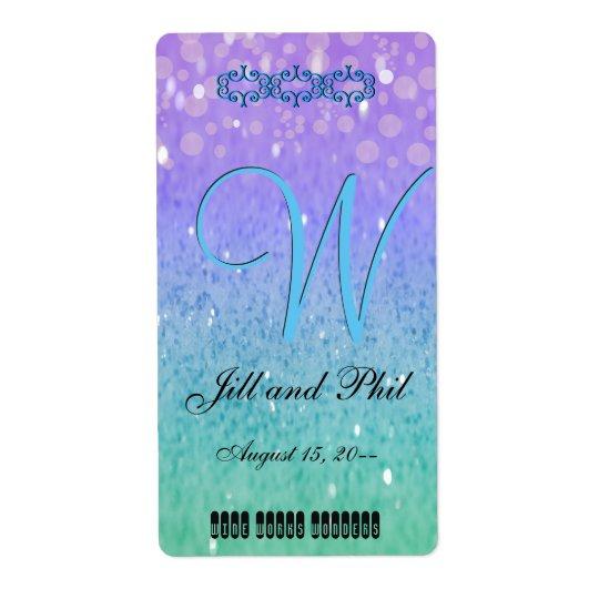 Purple Glitter Patio Lantern Confetti Glam Blue