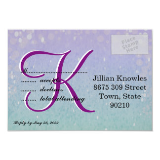 Purple Glitter Patio Lantern Confetti Glam Glow Card