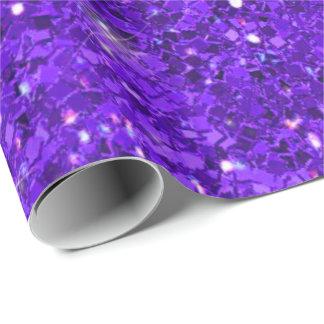 Purple Glitter Pattern ID144 Wrapping Paper