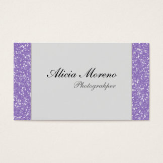 Purple Glitter Personalized Business Cards