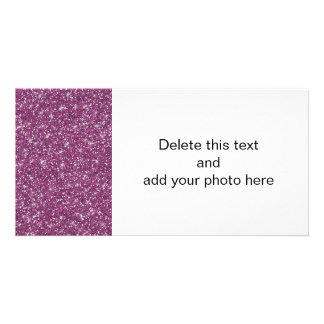 Purple Glitter Printed Photo Card Template