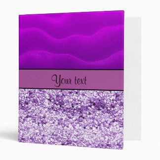 Purple Glitter & Sand 3 Ring Binders