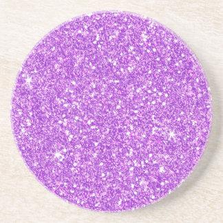 Purple Glitter Shine Shiny Luxury Diamond Coaster