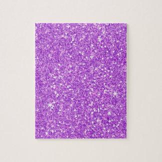 Purple Glitter Shine Shiny Luxury Diamond Jigsaw Puzzle