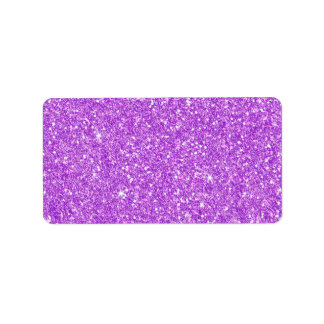 Purple Glitter Shine Shiny Luxury Diamond Label