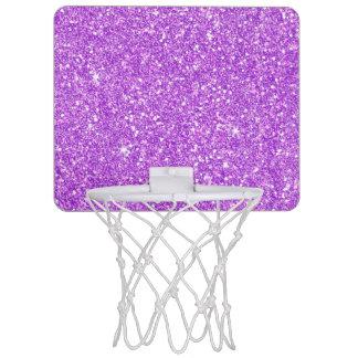 Purple Glitter Shine Shiny Luxury Diamond Mini Basketball Hoop