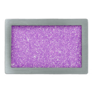 Purple Glitter Shine Shiny Luxury Diamond Rectangular Belt Buckles