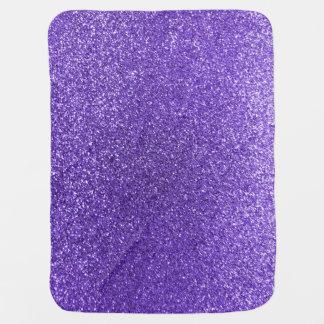 Purple glitter swaddle blanket