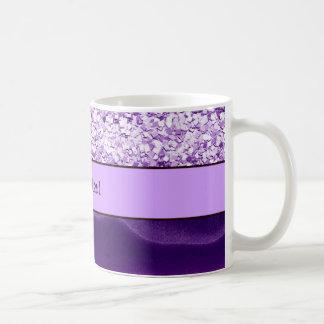Purple Glitter & Wavy Sands Coffee Mug